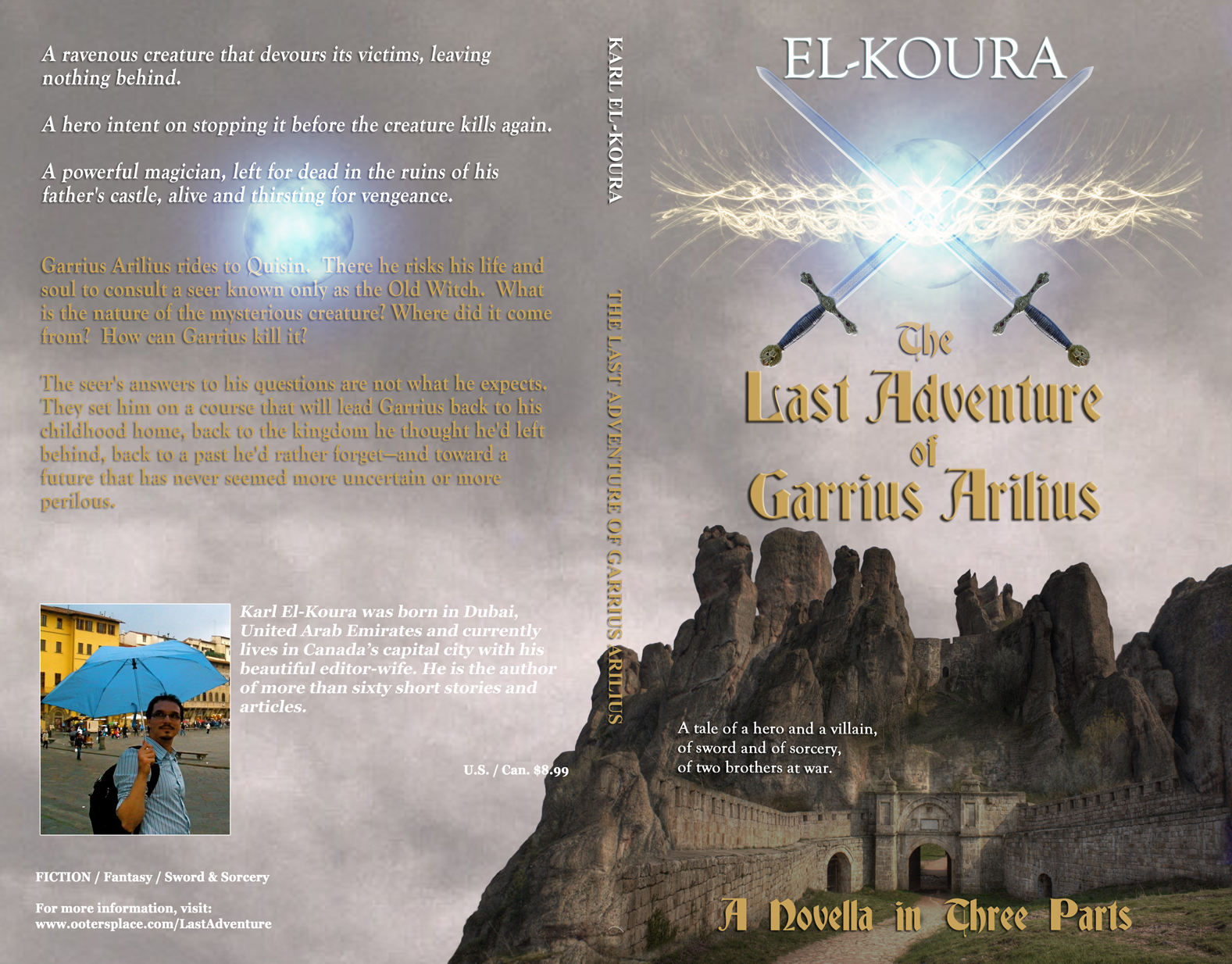 The Last Adventure of Garrius Arilius (paperback cover)