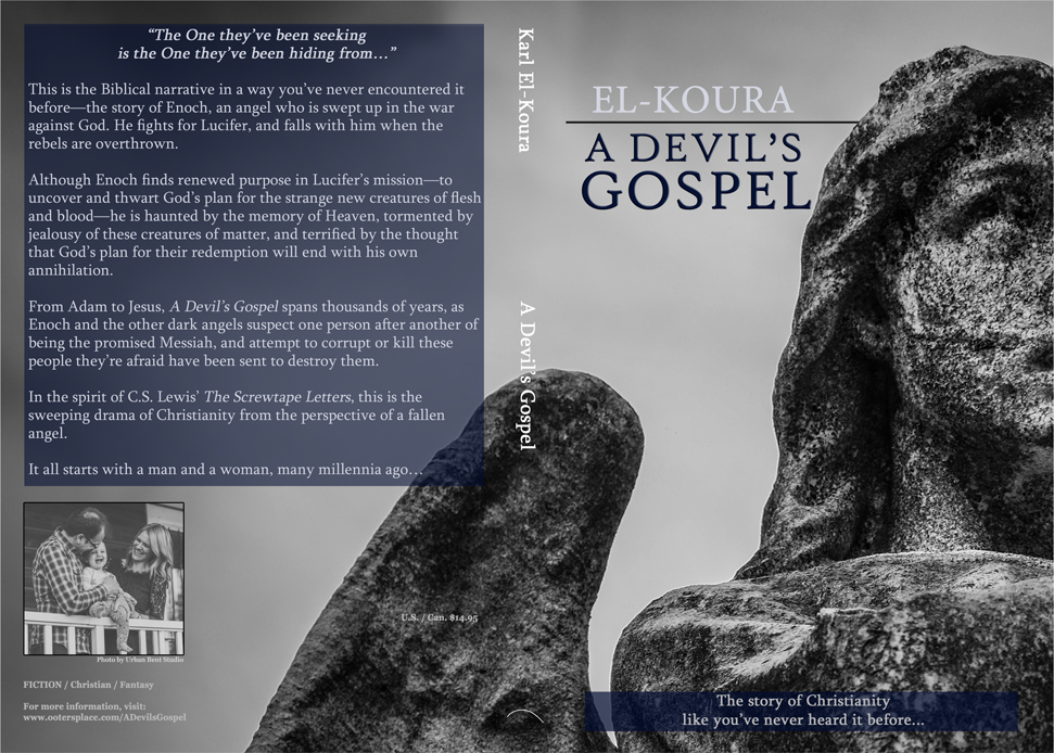Cover for the paperback of A Devil's Gospel